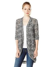 Splendid Women's Upstate Loose Knit Cardigan, Black, Large