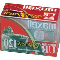 MAXELL UR-120 Blank Audio Cassette Tape -4 pack