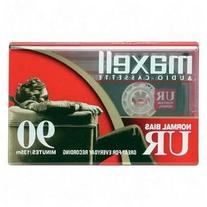 Maxell UR90/100 90-Minute Blank Audiocassette Tape, Normal