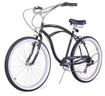 Firmstrong Urban Man Seven Speed Beach Cruiser Bicycle, 26-