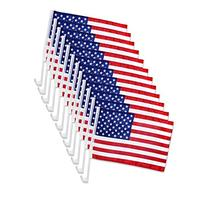 "12x US American Patriotic Car Window Clip USA Flag 17"" x 12"