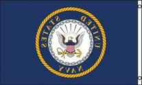 US Navy Emblem Flag 3x5ft Poly