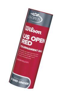 Wilson US Open Red Tournament Tennis Ball Can