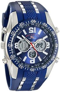 U.S. Polo Assn. Sport Men's US9284 Blue and Silver-Tone