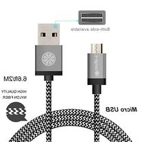 USB Cable, iOrange-E 6.6ft  Micro USB Cable Braided, Quick