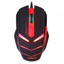 Gaming Mouse USB Wired 6 Button 1600DPI LED Red Light Mouse