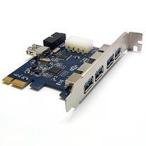 Sienoc USB3.0 PCI Express Card  PCI Express USB 3.0 5 Ports