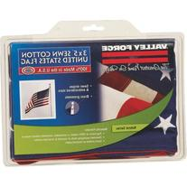 Valley Forge USB3 Valley Forge 3' x 5' Cotton U.S.A. Flag-