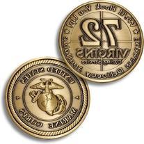 USMC 72 Virgins Bronze Antique