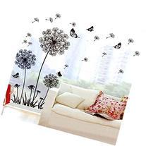 Ussore Wall Sticker Dandelion Butterfly Stickers Removable