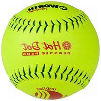 Worth Usssa Classic Hot Dot Leather Slow Pitch Softballs Pro