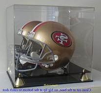 DisplayGifts PRO UV Football Full Size Helmet Display Case,