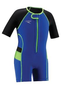 Speedo Kids' UPF 50+ Begin to Swim Thermal Swimsuit, Blue, 9