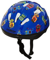 USA Helmet V-6 Toddler Bicycle Helmet, Blue with Robots