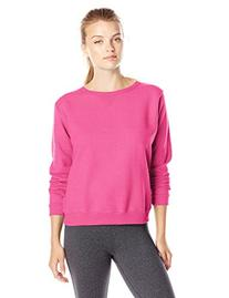 Hanes Women's V-Notch Pullover Fleece Sweatshirt, Violet
