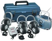 6 Person Listening Center with BluetoothCD/Cassette/FM