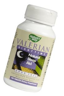 Natures Way Valerian Nighttime Natural Sleep Aid Tablets -