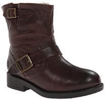 FRYE Valerie 6 Shearling Lined Engineer Boot ,Dark Brown,3 M