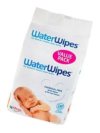 WaterWipes Sensitive Baby Wipes, Natural & Chemical-Free, 4