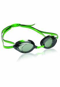 Speedo Jr. Vanquisher 2.0 Swim Goggles, Black/Green Tye-Dye