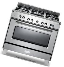 "Verona VCLFSGG365SS 36"" Classic Gas Range with 4 cu. ft."