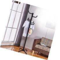 VECELO Metal Coat Rack, 8 Hook Hat/ Umbrella/ Clothes Rack