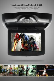 Vehicle Ergonomic 10.2 Inch Roof-Mounted Car DVD Player with