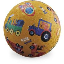 "Crocodile Creek Vehicle Sounds Playground Ball, 7"", Yellow"