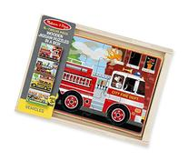 Melissa & Doug Vehicles 4-in-1 Wooden Jigsaw Puzzles in a