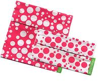 Lunchskins 2-Pack Velcro Bag Set Pink Confetti