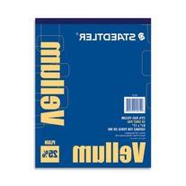 "Staedtler Vellum Paper Pad - Letter - 8.5"" x 11"" - 16lb -"