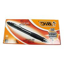 BIC Velocity Bold Retractable Ball Pen, Bold Point , Black, 12-Count