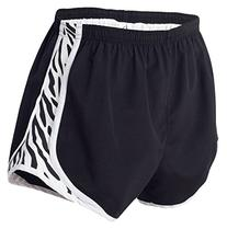 Boxercraft Ladies' Velocity Shorts - Black/ White/Zebra - M