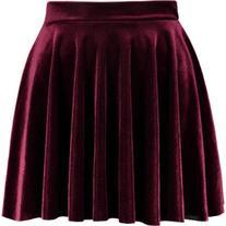 Mini Velvet A Line Skirt