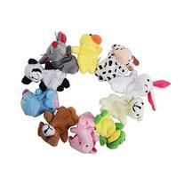 Valley Mall Velvet Animal Style Finger Puppets Set 10ps