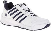 K-SWISS Men's Vendy II Everyday Tennis Shoe, White/Navy, 6.5