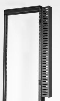 """Vertical Cable Management Single Sided Slotted Duct 36"""" Side"""