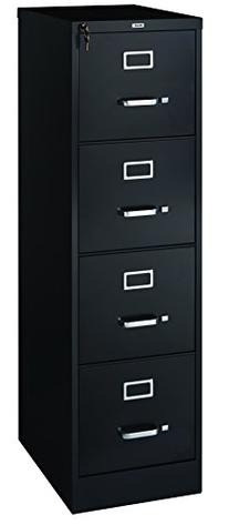 "Staples Vertical File Cabinet, 22"", 4- Drawer, Letter Size,"