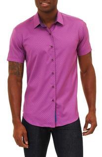 Men's Robert Graham Vertigo Classic Fit Sport Shirt, Size XX