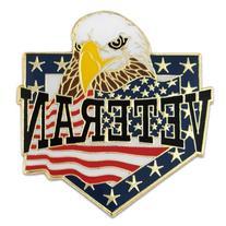 PinMart's Veteran American Flag Eagle Patriotic Enamel Lapel