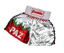 """Vinny """"Paz"""" Pazienza Signed White Trunks - Autographed"""