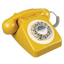 Wild Wood Rotary Design Retro Landline Phone for Home,