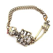 Suppion® Vintage Alloy Rock Gothic Punk Skeleton Skull