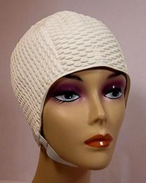 Bubble Crepe Swim cap with Chin Strap