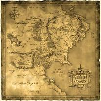 Ruimeng Vintage Cotton Lord of the Ring Middle Earth Map