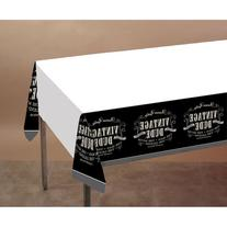 Creative Converting Vintage Dude Plastic Banquet Table Cover