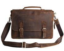 Kattee Men's Vintage Genuine Leather Briefcase Messenger Bag