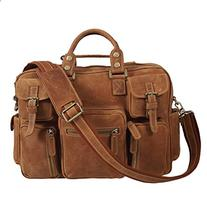 Texbo Vintage Genuine Cowhide Leather Messenger Briefcase Shoulder Bag Tote