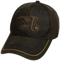 Justin Boots Men's Vintage Oil Cloth Ball Cap, Brown, One