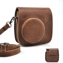 HelloHelio Vintage PU Leather Case with Strap for Fujifilm